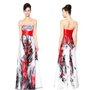 Ohnivé saténové bílé společenské korzetové šaty Ever Pretty 9971 ... d8d03b13e59