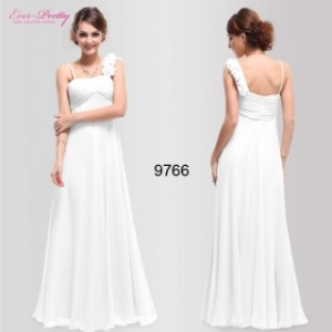 Bílé květinové dlouhé svatební, společenské šaty Ever Pretty ...