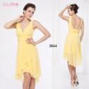 Kouzelné žluté společenské, večerné letní krátké šaty Ever Pretty 3644