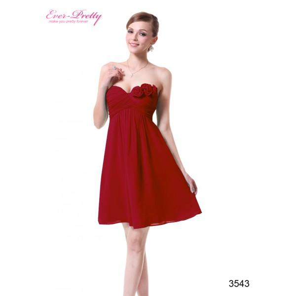 a840e94e9 ... Svůdné společenské, letní krátké šaty s květinami Ever Pretty 3543 - 4  barvy ...
