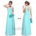 Nebesky jemné společenské šaty Ever Pretty 9016 tyrkysově modré