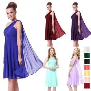 Úchvatné letní společenské šaty na jedno ramínko 3537 - 11 barev