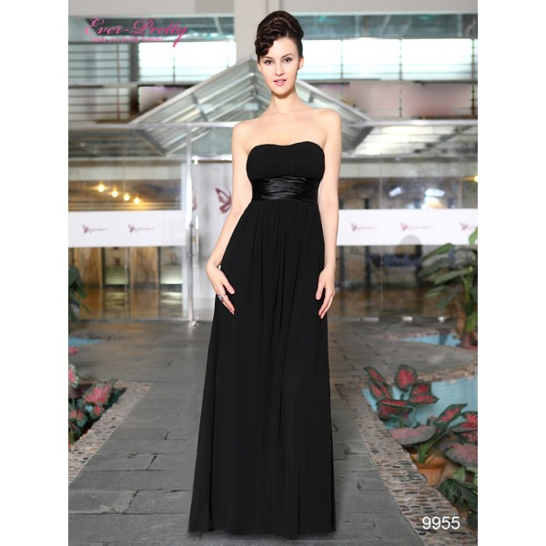 ... Večerní společenské černé dámské šaty bez ramínek Ever Pretty 9955 ... 02099a958c