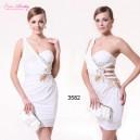 Sexy elastické bílé společenské šaty Ever Pretty 3582