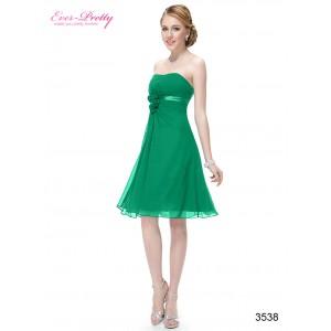 Koktejlové společenské, dámské šaty Ever Pretty s květinami 03538 - zelené
