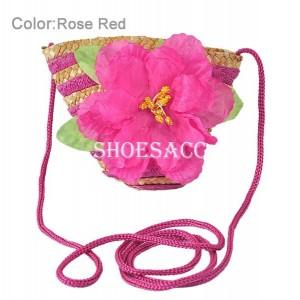 Dívčí, dětská kabelka s květinou - 6 barev