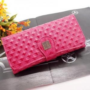 Dámská peněženka Anna Sui - proplétaná lesklá - růžová