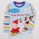 Dětské chlapecké tričko, triko s dlouhým rukávem modré Peppa Pig