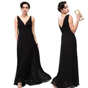 Nebesky jemné společenské šaty Ever Pretty 9016 černé