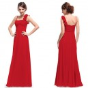 Luxusní květinové dlouhé společenské šaty Ever Pretty 9766 - červené
