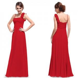 Luxusní červené dlouhé společenské šaty Ever Pretty 9766 - červené
