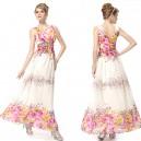 Letní dámské společenské, dlouhé šaty na ramínka s potiskem květin Ever Pretty 8126