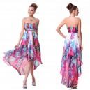 Letní dámské společenské, polodlouhé šaty s květy Ever Pretty 6091 - růžové