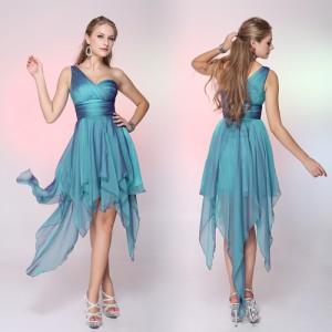 Fascinující dámské modré společenské šaty Ever Pretty 6093 na jedno ramínko
