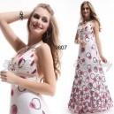 Letní dámské společenskébílé šaty s potiskem Ever Pretty 9871