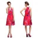 Dámské, letní, plážové, společenské krátké šaty Ever Pretty s potiskem růžové 3357