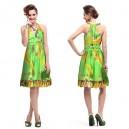 Dámské, letní, plážové, společenské krátké šaty Ever Pretty s potiskem zelené 3357