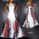 Ohnivé saténové bílé společenské šaty Ever Pretty 9614