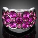Luxusní dámský prsten růžový Swarovski krystal J2300