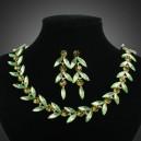 Luxusní set - náhrdelník + náušnice zelený Swarovski krystal G0171