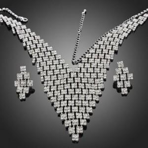 Luxusní set - náhrdelník + náušnice Swarovski krystal G0301