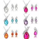Dámský set - náhrdelník + náušnice Swarovski krystal G0799 - 5 barev