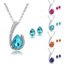Dámský set - náhrdelník + náušnice Swarovski krystal G0813 - 4 barvy