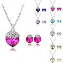 Dámský set - náhrdelník + náušnice Swarovski krystal G0814 - 7 barev
