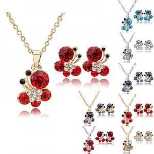 Dámský set - náhrdelník + náušnice Swarovski krystal G0812 - 4 barvy, 2 varianty