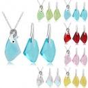 Dámský set - náhrdelník + náušnice s delfínem Swarovski krystal G0817 - 6 barev