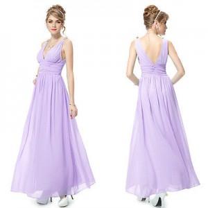 Nebesky jemné společenské šaty Ever Pretty 9016 fialové - lila