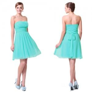 Dámské tyrkysové společenské koktejlové šaty Ever Pretty 3541