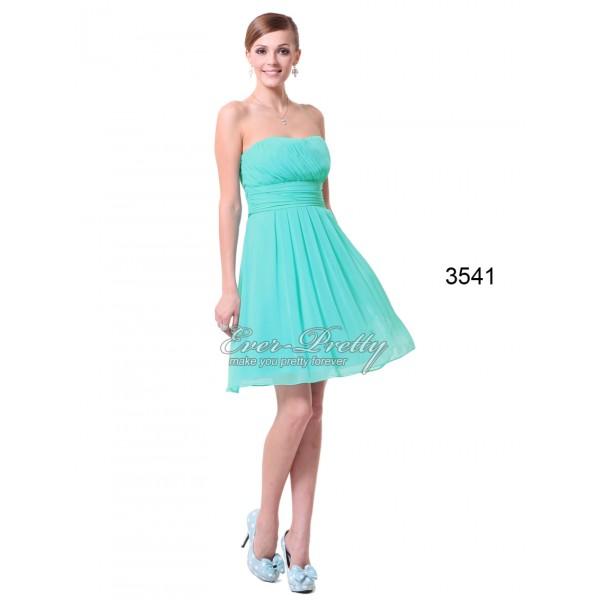 c51a38c93eb4 Dámské tyrkysové společenské koktejlové šaty Ever Pretty 3541 ...