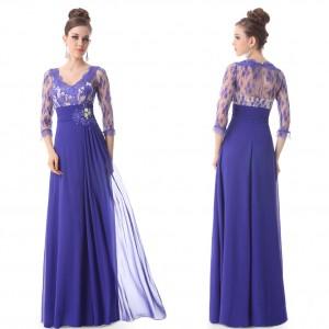 948c60ebf2df Luxusní společenské dlouhé šaty Ever Pretty s krajkou a rukávy 9053 - 4  barvy
