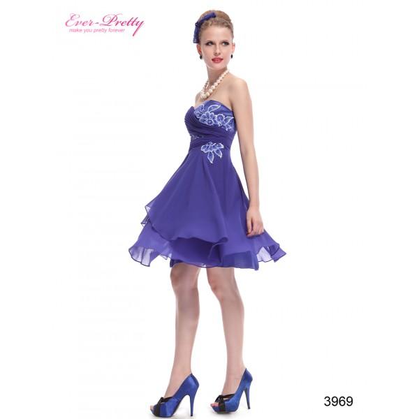 fda97a4c5343 Safírově modré dámské společenské šaty Ever Pretty 3969 - Angel fashion