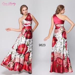 Sexy květové společenské dámské šaty Ever Pretty na jedno rameno 9623
