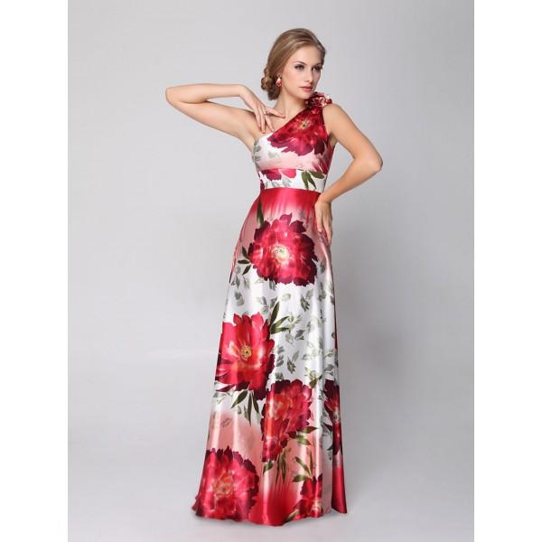 b8020b38900 Sexy květové společenské dámské šaty Ever Pretty na jedno rameno 9623