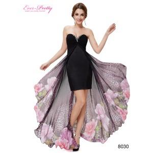 Luxusní černé dámské otevřené šaty Ever Pretty 8030