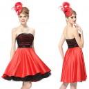 Nádherné černo-červené společenské dámské šaty Ever Pretty 3972