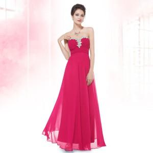 Noblesní růžové společenské šaty s pajetkami Ever Pretty 9915