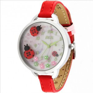 """Dámské módní hodinky s kamínky z polymeru """"Berušky"""""""