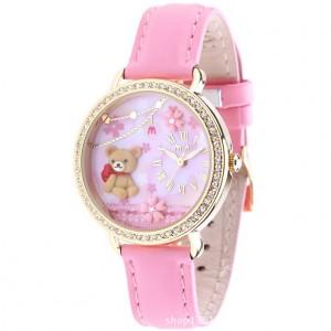 """Dámské módní hodinky s kamínky z polymeru """"medvídek"""""""