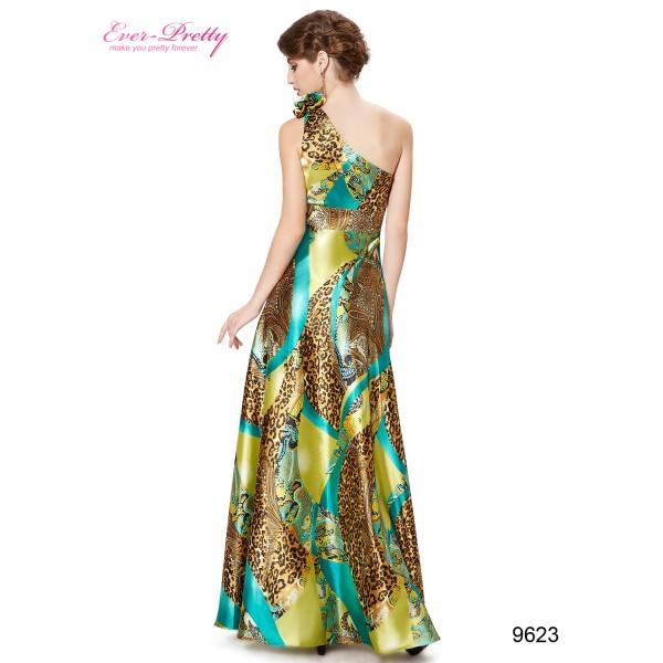010280ddf3a Sexy leopardí společenské dámské šaty Ever Pretty na jedno rameno 9623