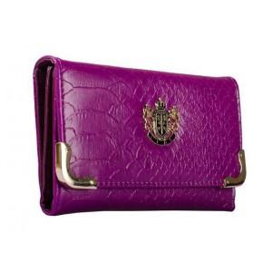 Módní dámská peněženka Lydc London hadí motiv - fialová