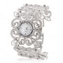 Stříbrné dámské hodinky s krystaly jako šperk