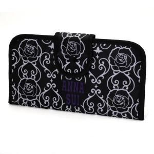 Dámská peněženka Anna Sui černá se vzorem