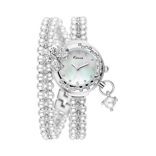 c9fa3a16920 Luxusní dámské hodinky osázené krystaly a perlami - černé