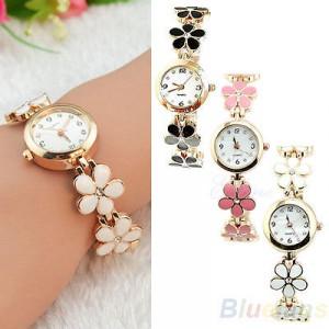 52b3854850 Modní zlaté dámské hodinky s květinami - 3 barvy - Angel fashion