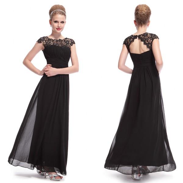 b603a0b33680 Elegantní společenské šaty s krajkou v dekoltu 9993 - 7 barev ...