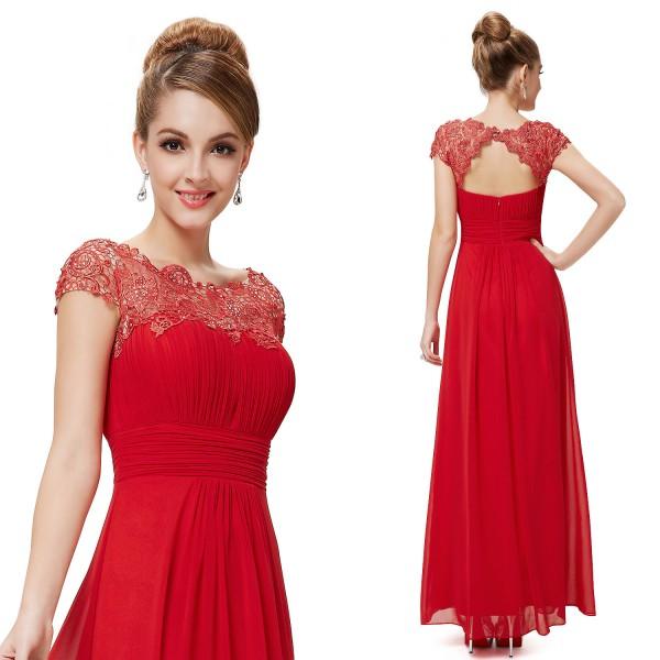 Вечерние платья красные с кружевом